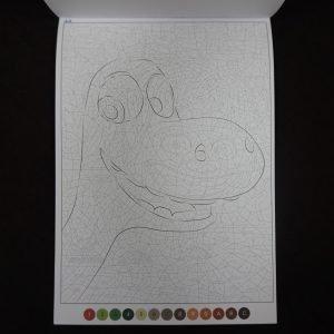 Disney kleuren op nummer (Misleiding blok)